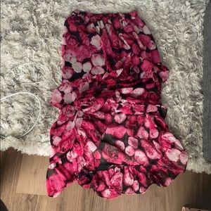 Never worn - high-low ruffle dress